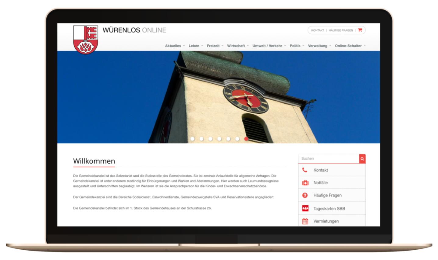 Homepage Gemeinde Würenlos