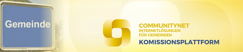 CommunityNet Komissionsplattform header
