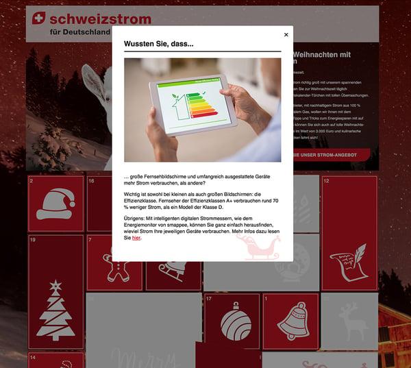 EBLD Adventskalender schweizstrom