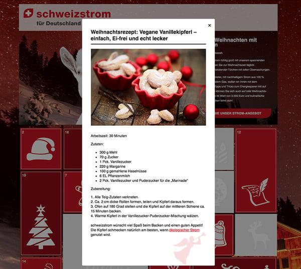 Online-Adventskalender schweizstrom