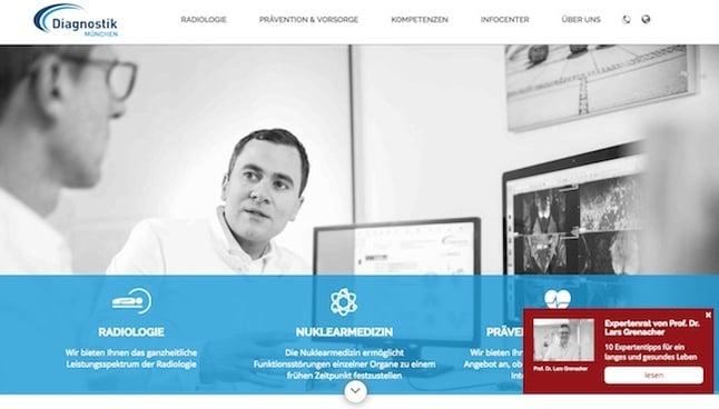 diagnostik münchen web relaunch w4